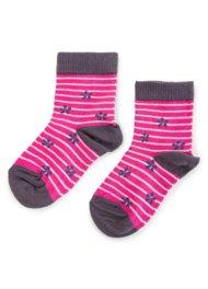Dětské ponožky Nelli Blu 13U1M210 rozm. 20-24 RŮŽOVÁ