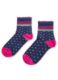 Dětské ponožky Nelli Blu 16L1B800 rozm. 25-28 TMAVĚ MODRÁ