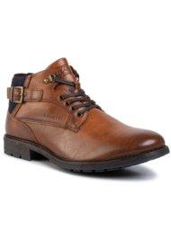 vysoká šnurovacia topánka Lanetti MBS-IMOLA-02 HNEDÁ