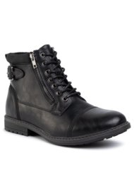 vysoká šnurovacia topánka Lanetti MYL8013-14 ČIERNA