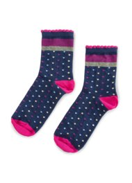 Dětské ponožky Nelli Blu 22L1B800 rozm. 34-38 TMAVĚ MODRÁ