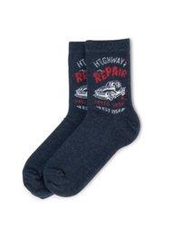 Dětské ponožky Action Boy 22N2AM30 rozm. 34-38 TMAVĚ MODRÁ