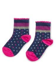 Dětské ponožky Nelli Blu 13L1B800 rozm. 20-24 TMAVĚ MODRÁ
