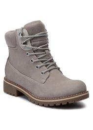 vysoká šnurovacia topánka Jenny Fairy WS722-28A ŠEDÁ